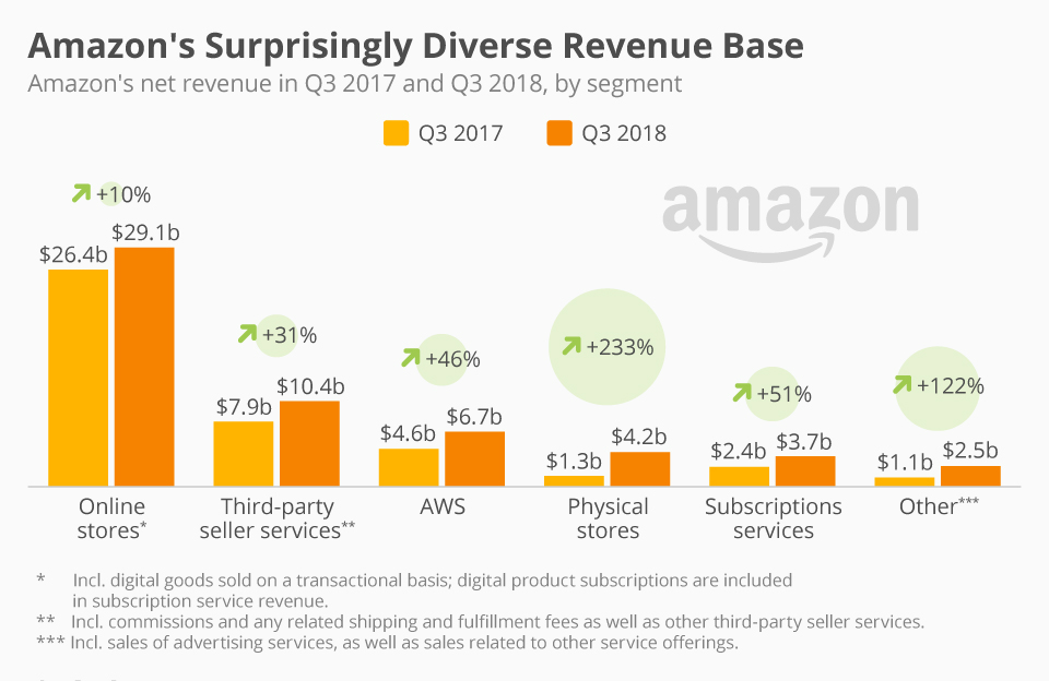 Amazon Revenue by Segment